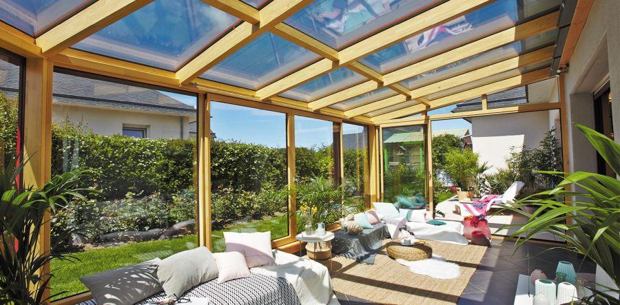 Un toit en verre pour votre terrasse – une belle idée !